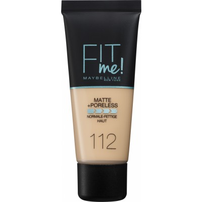 Maybelline Fit Me Matte & Poreless Foundation 112 Soft Beige 30 ml