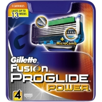 Gillette Fusion Proglide Power Barberblade 4 stk