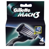 Gillette Mach3 Barberblade 4 stk